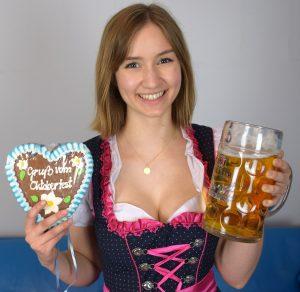 günstiges Dirndl Bier und Lebkuchenherz